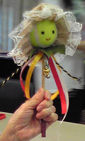 tennis ball               doll
